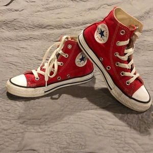 Kids Red Converse Sneakers